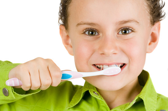 Teach children how to brush teeth